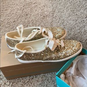 Keds Shoes - Kate spade Keds Gold Glitter